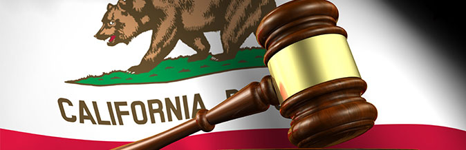 California Flag and Gavel - California Consumer Privacy Act (CCPA)