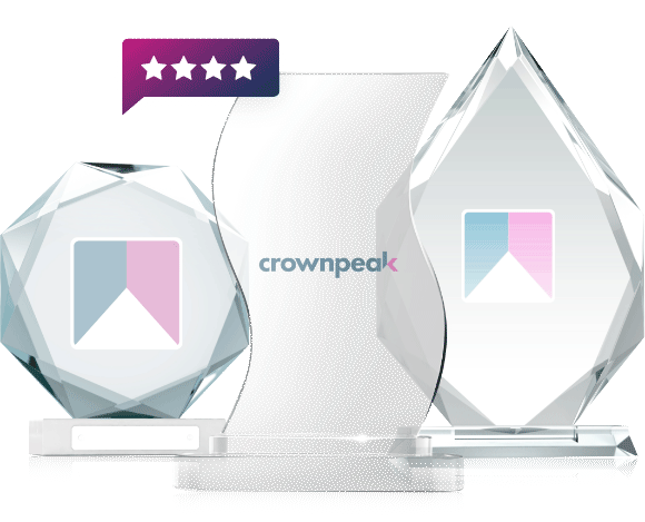 Image of awards with crownpeak logo
