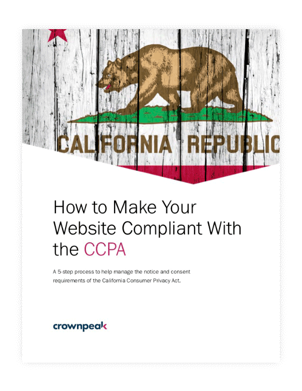 How to Make Your Website Compliant with the CCPA ebook cover