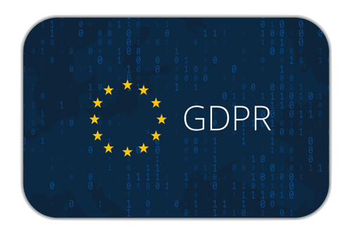 GDPR on background of Europe map