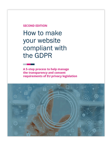 How to make your website compliant with the GDPR ebook cover