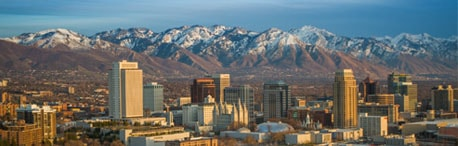 Panoramic view of Salt Lake City
