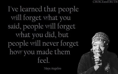 Maya Angelou quote on emotion
