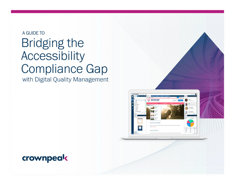 Bridging the Accessibility Compliance Gap ebook cover